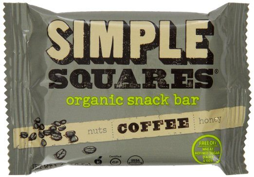 Simple Squares Organic Snack Bars, Coffee Bean