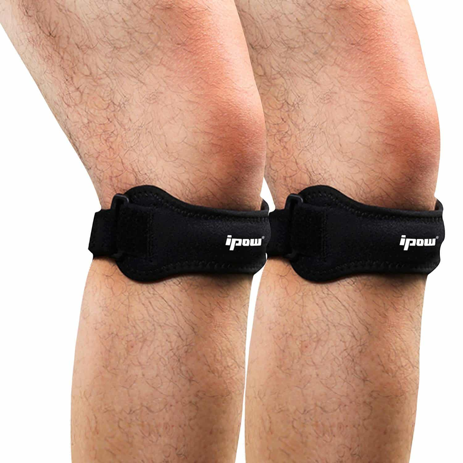 Ipow 2 Pack Knee PainRelief&Patella Stabilizer Knee Strap Brace Support